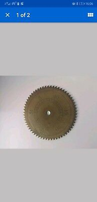 Grandfather Clock Brass Calendar Date Wheel For Antique Long case Clock Dial