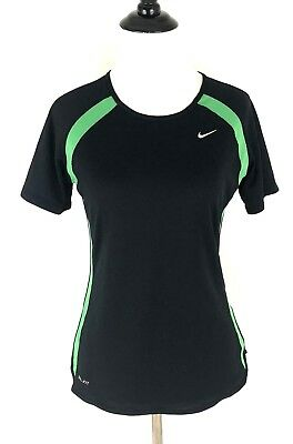 8d538f81 Women's Nike Dri-Fit Compression Shirt Size S Small Short Sleeve black /  green