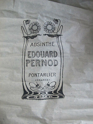 Papier Emballage Bouteille Absinthe E.pernod 1900