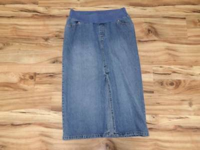 Womans misses Old Navy maternity jean denim long skirt size L large