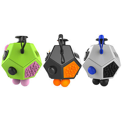 1PC Fidget Cube 12 Sides Anxiety Stress Relief Office Toy For Kids Adults Autism