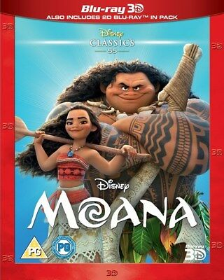 Moana (3D Edition with 2D Edition) [Blu-ray]