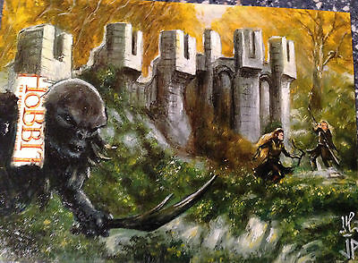 The Hobbit Desolation of Smaug Sketch Card by Jason Potratz & Jack Hai