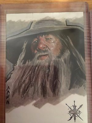 The Hobbit Battle Five Armies Sketch Card by Jack Redd of Gandalf