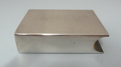 TIFFANY Solid Sterling SILVER Matchbox Cover in Drawstring Bag c46g Not Engraved