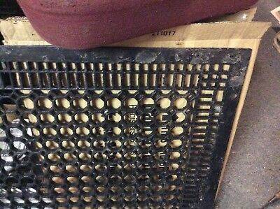 "LARGE Antique Vtg CAST IRON Cold Air Return ORNATE FLOOR Heat Grate 26"" x 32"""