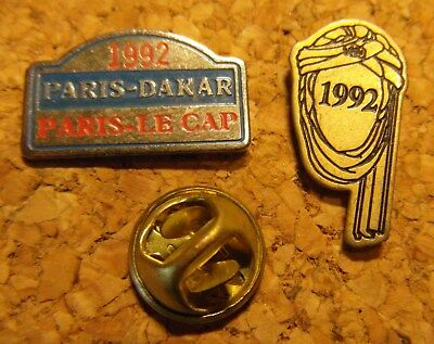 Pin's - PARIS DAKAR - PARIS le CAP - Lot de 2 - 1992 -