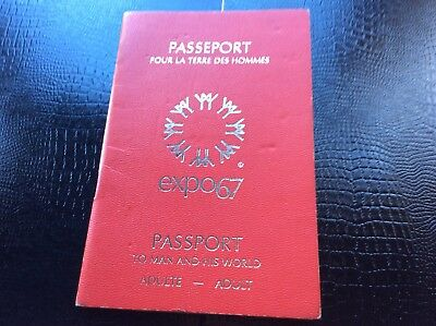 1967 Expo 67 Montreal Adult Passeport W/100 Stamped Pavillons