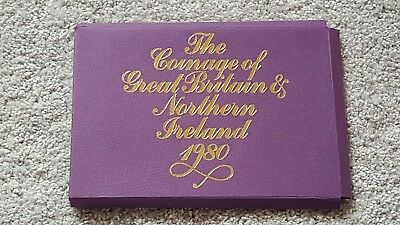 1980 Uk Coinage Of Great Britain Proof Set Cover- Paper Case Only-No Coins!