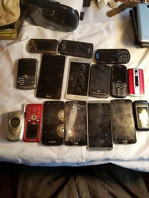 Cell Phone Lot, 16 Pieces, Sold For Parts plus  batterys