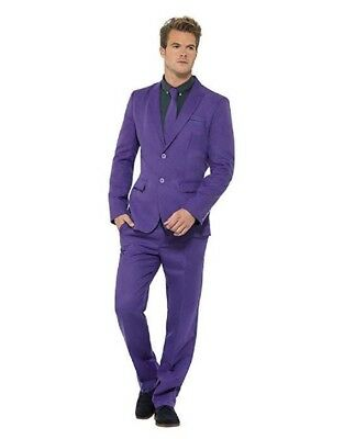 Smiffy's Men's Groovy Purple/Black Stand Out Suit Large Adult