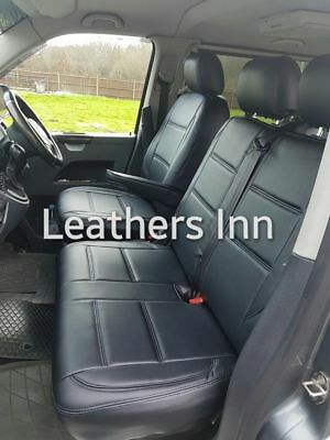 VW TRANSPORTER T5 (2004-2015) Single & Double Leatherette Seat Covers 50% OFF