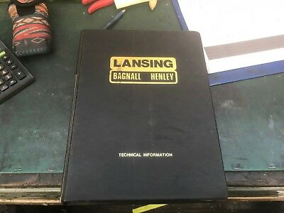 Lansing Bagnall Technical Manual With Parts List And Diagrams For Model Fres 2.1