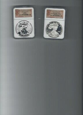 2012 US Mint American Eagle San Francisco Two Coin Silver Proof Set NGC PF 69