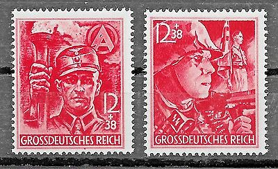Germany 3rd Reich Mi# 909-910 MH RARE 1945 12th Anniversary of the 3rd Reich *
