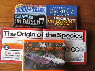 Datsun Z collection of books and magazines