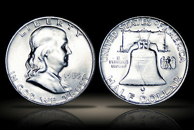 1953-D Franklin Half Dollar - Gem MS FBL - Exceptional Surfaces - F79