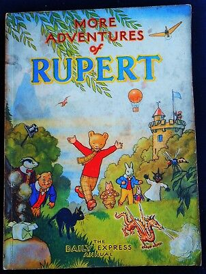 Vintage 1947 Rupert Bear Annual, Price Unclipped 3/6, No Facsimlie This Year