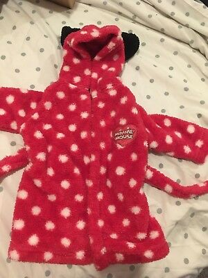 Minnie Mouse Baby Dressing Gown First Size Newborn (Upto One Month)