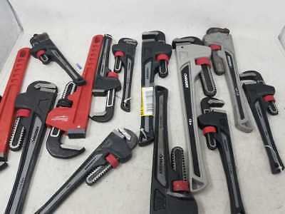 Lot #TI3 Pipe Wrench HUSKY MILWAUKEE Aluminum Heavy duty 10in 14in