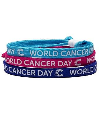 CANCER RESEARCH UK Unity Band® World Cancer Day Feb 4th 2019