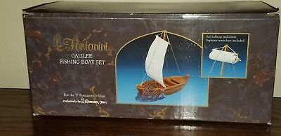 Fontanini Galilee Fishing Boat Set.  #55503.   Mint condition. New in box.
