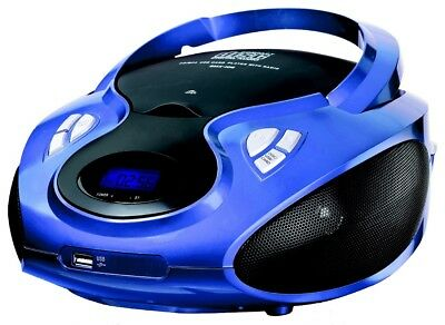 Kompaktanlage CD-Player Stereoanlage CD-Radio Boombox Kinder Radio blau