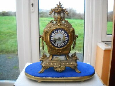 A Nice French Mantel Clock With Base/plinth In G.w.o.