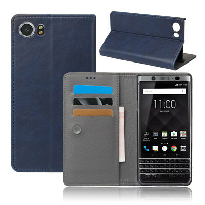 For BlackBerry KEYone Case Leather Slim Fit Magnetic Flip Stand Dropproof Cover