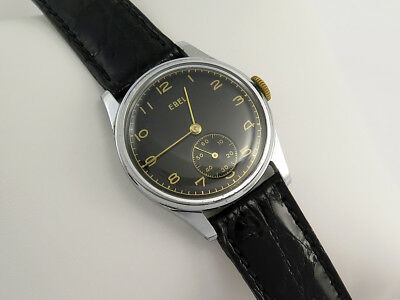 Vintage EBEL WW2 MILITARY MANUAL WIND GENTS WATCH Cal 99