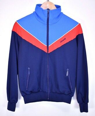 ADIDAS VINTAGE 70s OLDSCHOOL CASUAL RETRO TRACK JACKET TRACKSUIT TOP size SMALL