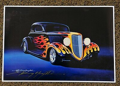 Kenny Youngblood Signed Night Rider Hot Rod Flames Print
