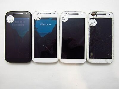 Lot of 4 Repair Motorola E 2nd Gen XT1526 Unknown Carrier Check IMEI 5PR 532