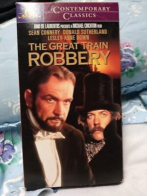 The Great Train Robbery (VHS) SEALED: 1978 adventure stars Donald Sutherland