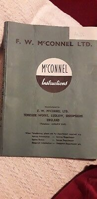 F W McConnel Instructions All Work Mounted Sawbench Vintage