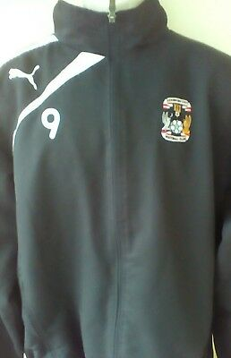 Coventry City rare player issue training top jacket, L adult