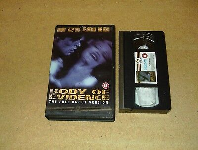 Body of Evidence - Ex-Rental Big Box VHS Video Madonna Guild Embossed Box Uncut
