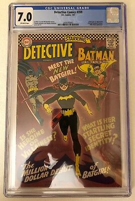 Detective Comics #359 CGC 7.0 OW Pages Origin First appearance Batgirl