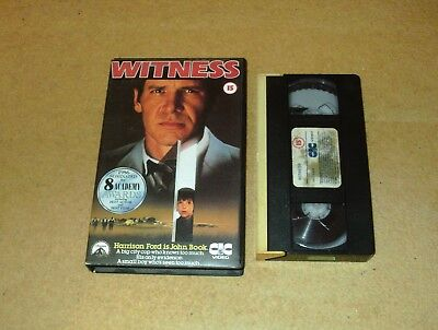 Witness - Ex-Rental Big Box VHS Video Harrison Ford CIC Embossed Box