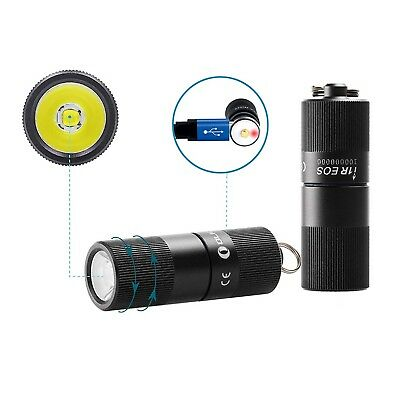 Olight i1R EOS 130 Lumen EDC Rechargeable LED Keychain Light w/ Battery & Cable