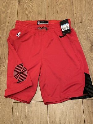 Nike NBA Portland Trailblazers Swingman Basketball Shorts Sz M 879998-657