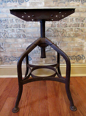 Vintage Toledo Metal Furniture Co. Industrial Cast Iron Drafting Stool Base