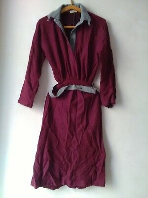 Vetement Femme  Robe Dress Ancienne Laine Old Wool Dress Marque Griffe Mode 1930