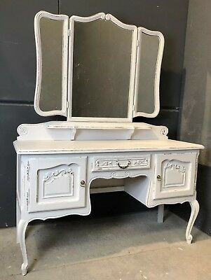 Vintage French Dressing table / Painted French   shabby chic style (VB323)