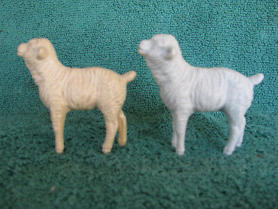 Pair of Vintage Hartland Sheep - Rack toys from late 60s - early 70s