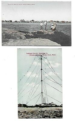 Brant Rock, MA - 2 Cards - View - Wireless Station