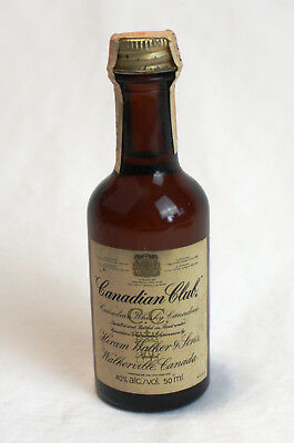 1978 Canadian Club With Government Seal 50Ml Made In Canada - Miniature Bottle