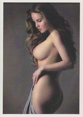 Postcard Pinup Risque Nude Stunning Beauty Extremely Rare LAST ONE Postcard 8002