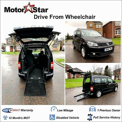2012 VW Caddy 1.6 TDI Auto Sirus Disabled Drive From Wheelchair Access Vehicle