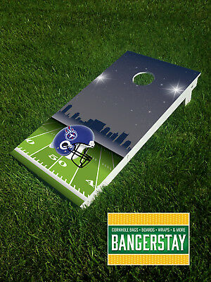 Handcrafted Cornhole Boards with Scorestrip- Tennessee Titans (TT2)
